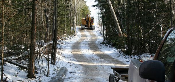 Road building winter
