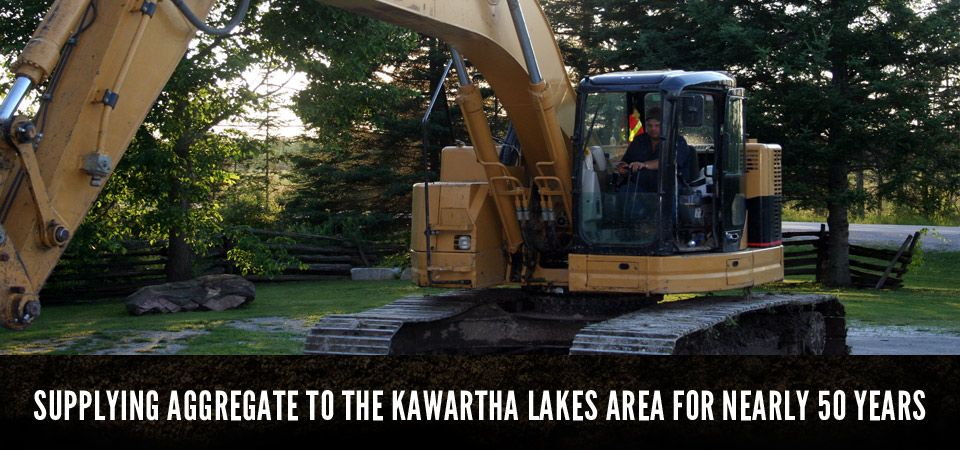 SUPPLYING AGGREGATE TO THE KAWARTHA LAKES AREA FOR NEARLY 50 YEARS, construction